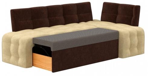 Кухонный диван Бристоль велюр комби